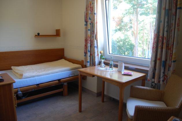 Ansicht des Einzelzimmers Komfort